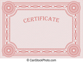 blank certificate - Classic guilloche border like those seen...