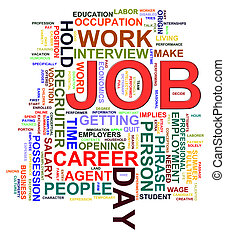 Job word tags - Illustration of Worldcloud word tags of job