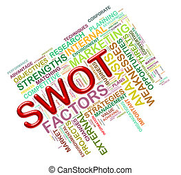 swot word tags - Illustration of Worldcloud word tags of...