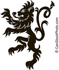 heraldic lion in isolation for your design