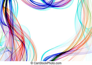 abstract ribbon waves - abstract colorful ribbon waves