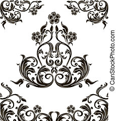 retro scrolls - original retro design elements