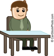 Businessman in Office Vector