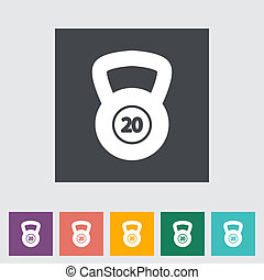 Sport weight single icon. Vector illustration.