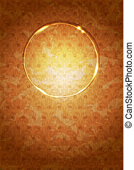 vintage background with an oval area