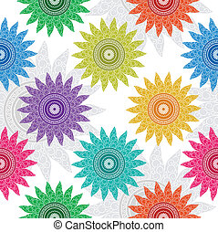 Seamless floral design for wrapper - Seamless fancy floral...
