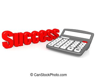 Success with calculator - Hi-res original 3d rendered...
