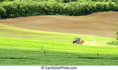 Spraying of a agricultural land