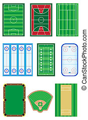 fields for sports games vector illustration isolated on...