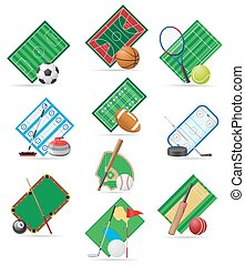 set icons sport vector illustration isolated on white...