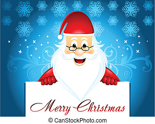 Christmas background with santa