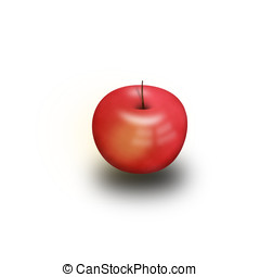 3D Red apple - 3D red apple