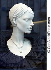 Elegant mennequin - Luxury mannequin dreesed in elegant...