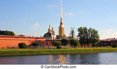 St Peter and Paul fortress in Saint-Petersburg Russia