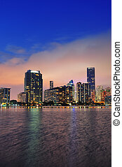 Miami night scene