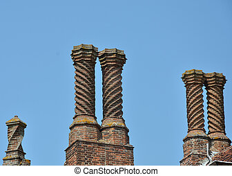 Elizabethan Chimneys - Group of Elizabethan Chimneys