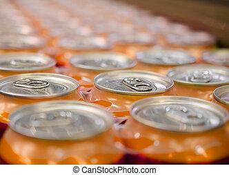 soda, estouro, Cerveja, bebida, LATA, latas