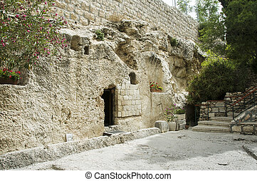 place of the resurrection of Jesus Christ in Jerusalem...