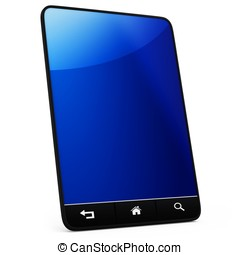 3d generic tablet with navigation controls