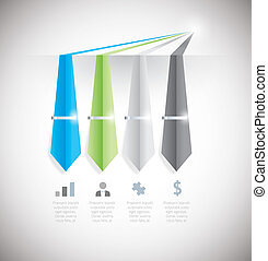 Infographic option element with tie - Business info graphic...