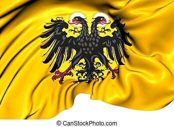 Holy Roman Empire Flag (1400-1806). Close Up.