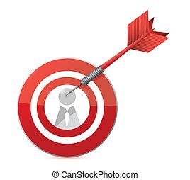 target candidate concept illustration design