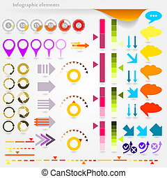 Infographic elements - Collection of vector inforgaphic...