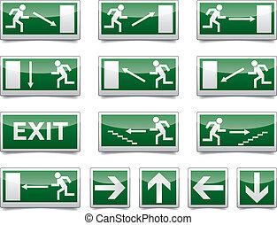 Danger exit warning sign