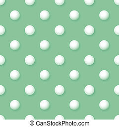 Vector abstract background - vintage seamless polka dots volumetric green pattern eps8