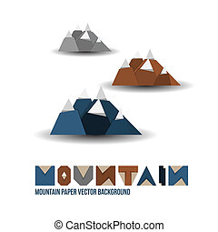 Paper Mountain Background