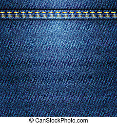 Jeans background Vector texture Fabric textile design