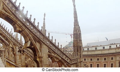Duomo di Milano from the roof - View of the building