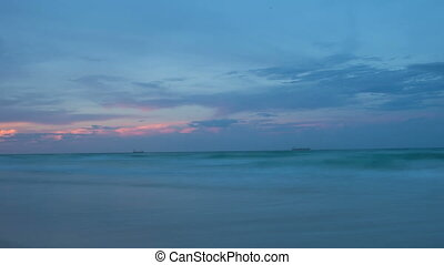timelapse of miami sunset at the beach