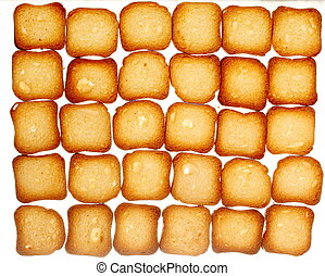 rusks bread toast biscuits, diet food background - Many...