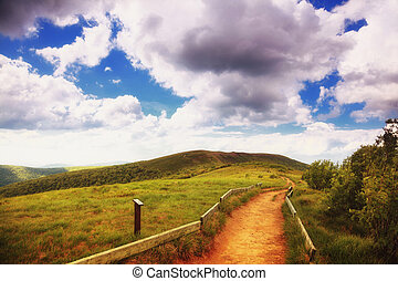 mountains hills landscape Bieszczady Poland - Beautiful...