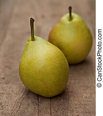 Two pear fruits