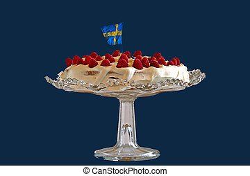 The Summer Cake - A typical summer cake or gateau in Sweden...