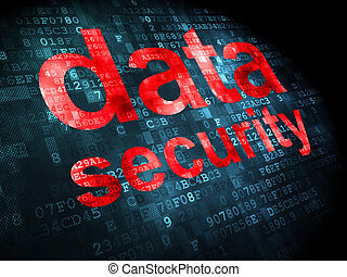 Privacy concept: Data Security on digital background -...