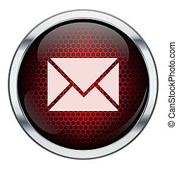 Red honeycomb mail icon