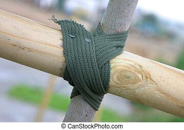 Tied knot closeup