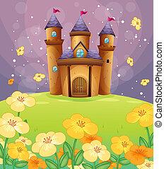 A beautiful castle in the fields