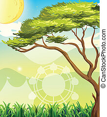 A tree and a sun - Illustration of a tree and a sun