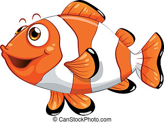 A nemo fish - Illustration of a nemo fish on a white...