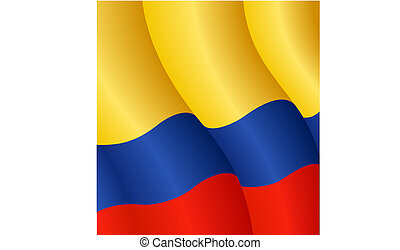 Flag of Colombia - Vector Illustration of the flag of...