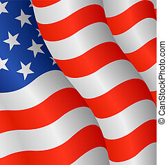 Flag of the United States - Vector illustration of the flag...
