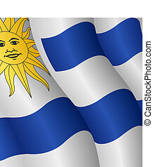 Flag of Uruguay - Vector illustration of the flag of Uruguay