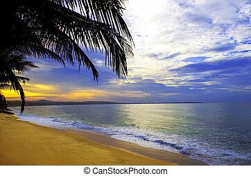 Daybreak. - Daybreak in Mui Ne. Binh Thuan province of...