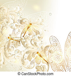 Elegant wedding floral background w - Cute wedding...