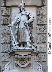 Magyar Statue Neue Burg Vienna - a Magyar or Hungarian...