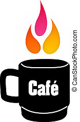 Flame coffee logo